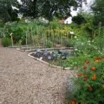 Wege und Beete im Garten