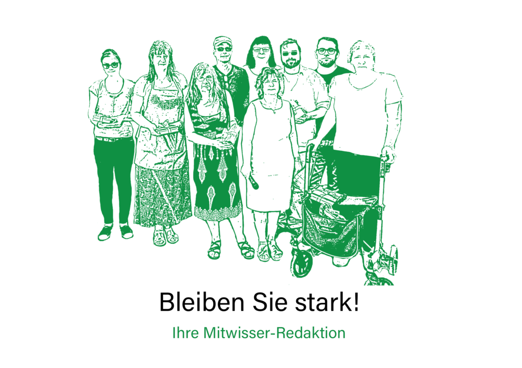 Gruppenfoto der Mitwisser-Redaktion